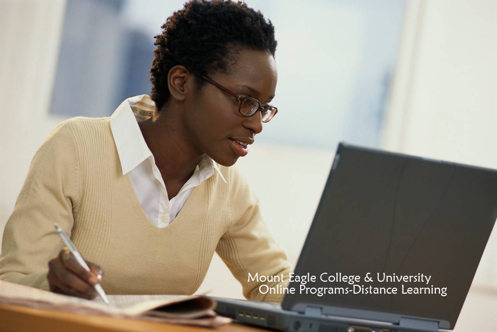 Mount Eagle College and University Distance Learning Student